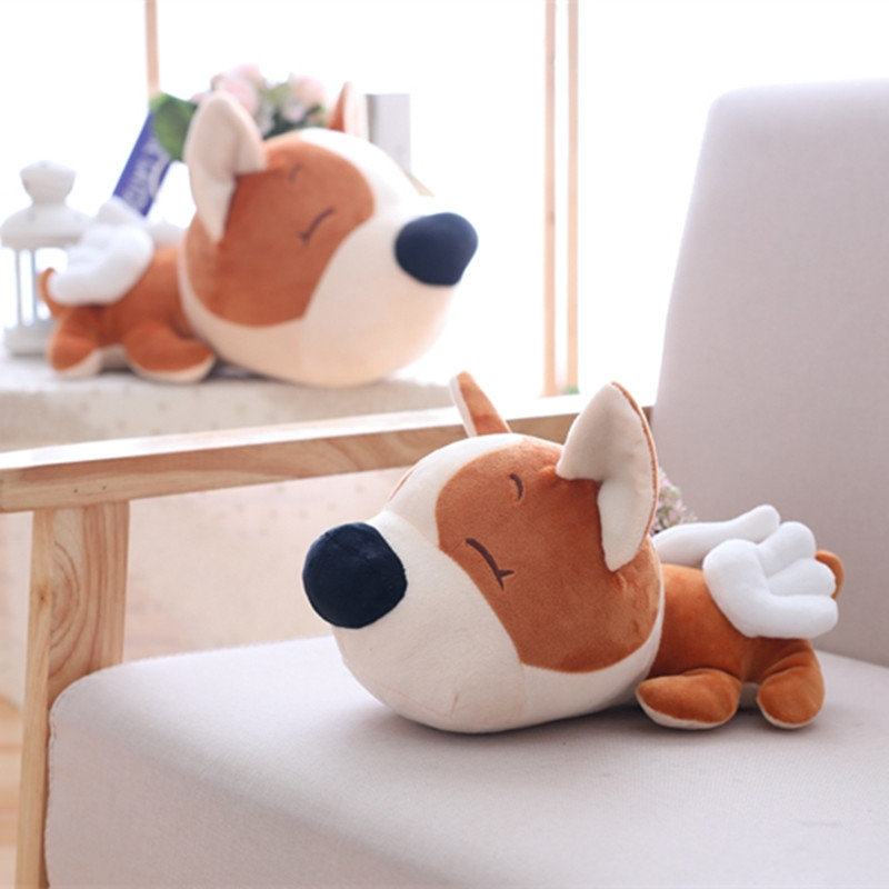 1 PC 35cm Lovely Angel Dog Plush Toy Stuffed Soft Animal Doll Baby Kawaii Dog Pillow Best Valentine Gift for kids stuffed animal plush 80cm jungle giraffe plush toy soft doll throw pillow gift w2912