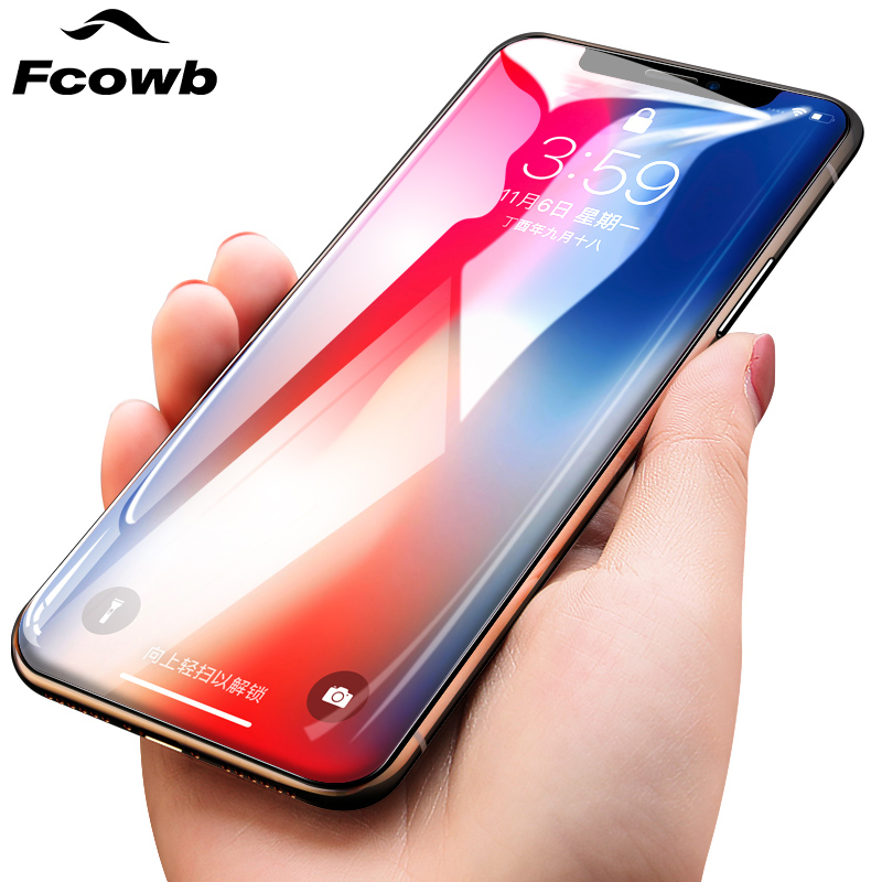 FCOWB For Apple iPhone X Tempered Glass 5.8 inch High Quality Safety 0.26mm 9H Hardness Protector Glass