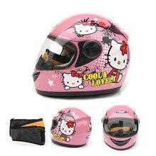 pink girls children motocross ful face helmet motorcycle kids helmets motorbike childs MOTO safety headpiece