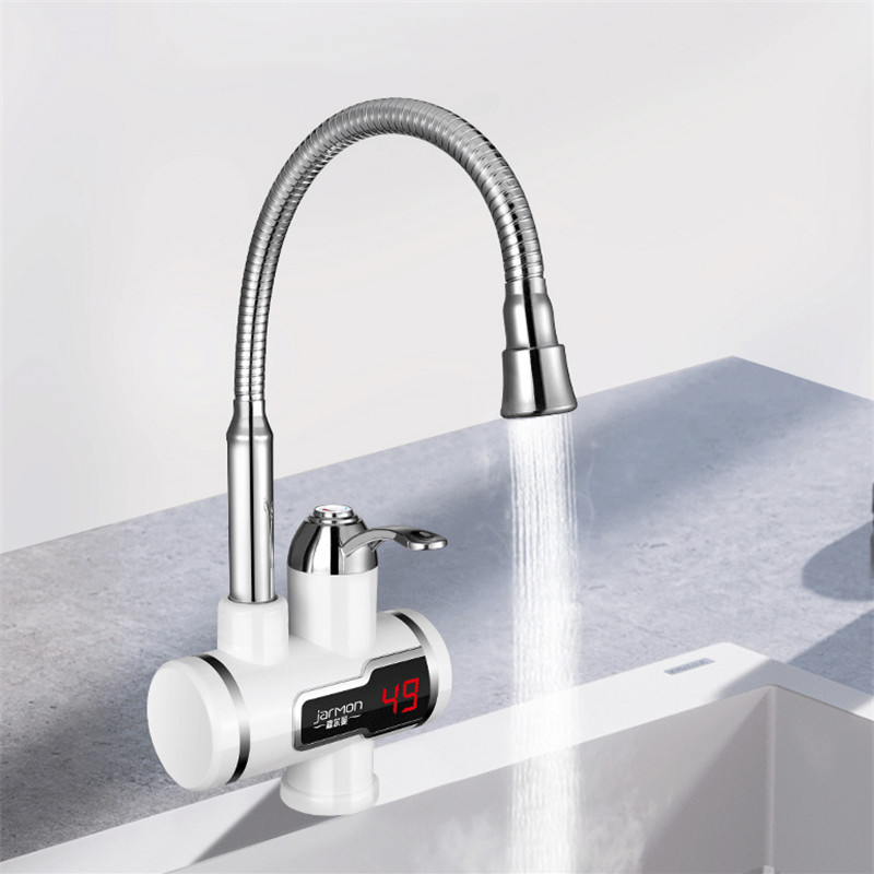 220V 3000W Tankless Instant Heating Sink Tap 360° Digital Display Electric Water Heater Faucet EU Plug