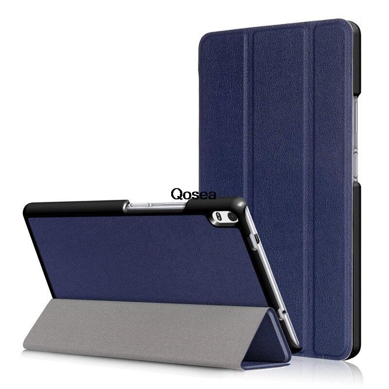 Qosea Pour Lenovo Tab 4 8 Plus TB-8704 De Luxe PU En Cuir Smart Stand Cas Tab 4 8 Plus TB-8704F TB-8704N Tablet PC Couverture de Stand