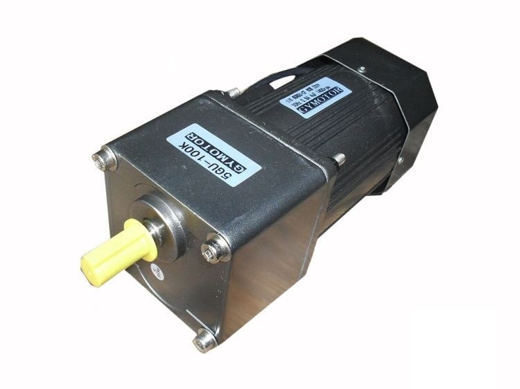 цена на AC 220V 90W Single phase regulated speed motor with gearbox. AC gear motor,