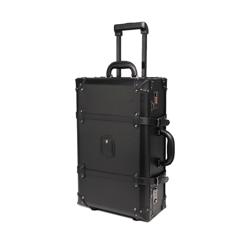 PU Carry-ons trolley case,vintage Rolling Luggage,Classic valise,Universal wheel suitcase,High quality portable boarding BOX  PU Carry-ons trolley case,vintage Rolling Luggage,Classic valise,Universal wheel suitcase,High quality portable boarding BOX
