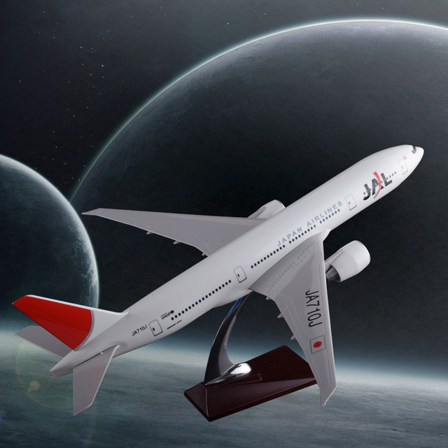 47cm Boeing 777 Japan Airlines Airplane Model JAL Air Japan B777 Airbus Airways Resin Aircraft Model Holidays Gift Collection