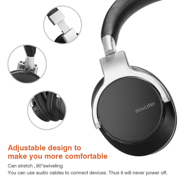 Mixcder E7 Bluetooth Headphones Active Noise Cancelling with Mic 3