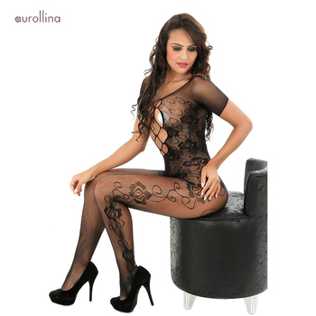 Female Erotic Wear Women Open Crotch Bodystocking Sexy Lingerie Hot Porn Adult Sex Clothes Sexy Costumes Erotica Body Stocking hot sexy lace neck fishnet body stocking sexy lingerie nets clothings sex costumes black mesh fishnet open crotch bodystocking
