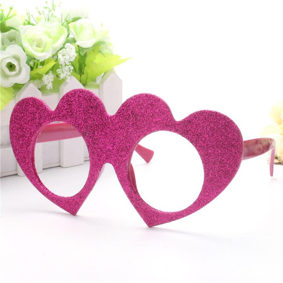 Decorative Loving Love Heart Frame Costume Glitter Glasses For ...