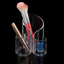 Transparent Clear Acrylic Makeup Organiser Cosmetics Stand Display Storage Box Case Lipstick Brush Holder Racks storage box(China)