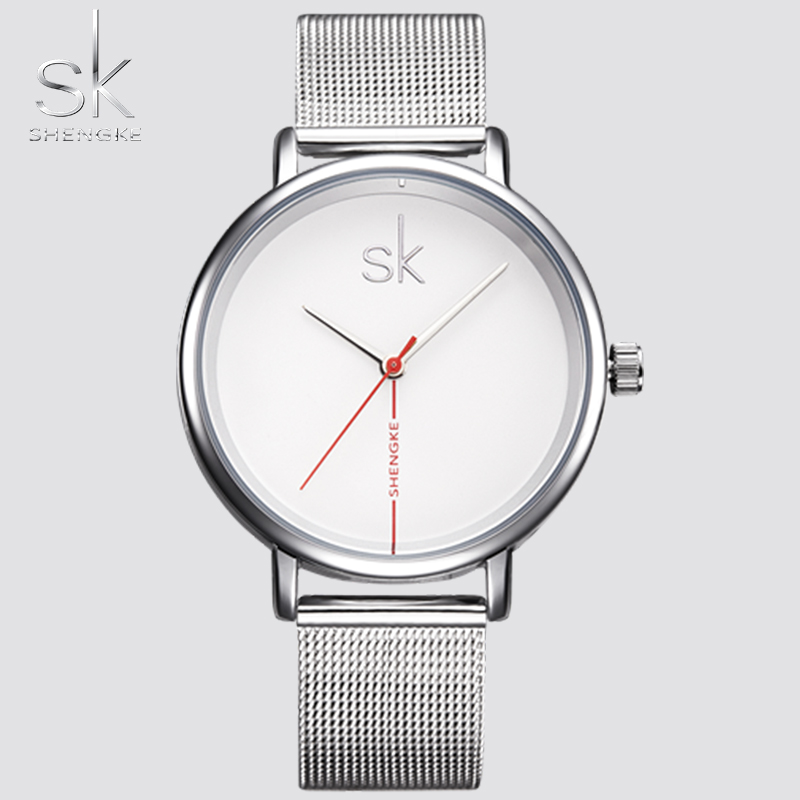 New Brand SK Clock Women Leather Band Waterproof Ladies Clock Fashion Casual Watch Quartz Dress Watches Relogio Feminino Shengke 2016 new arrivals brand butterfly dial relogio feminino quartz dress watch leather ladies casual watches women female clock