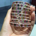2017 Qi Xuan_fine Jewelry_luxury Natural Tourmalines Colorful Bangles_s925 Solid Stones Woman Bangles_factory Directly Sales