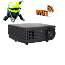 Revist 2000 Lumens LCD Projector Built-in Android WiFi Proyector Red/blue 3D LCD Home Theater LED Projector Support 1280×800