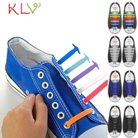 Jasmine 16PCS Set Unisex Women Men No Tie Shoelaces Elastic Silicone Shoe Laces Fit All Sneakers