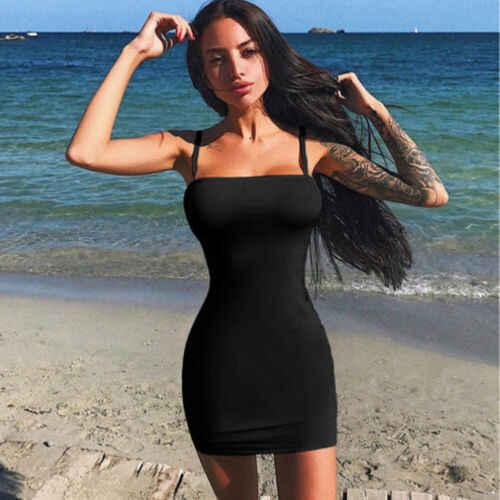 Zomer Sexy Mode vrouwen Clubwear Solid Red Hot Skinny Slim Casual Mouwloze Pure kleuren Bodaycon Jurken