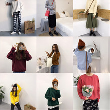 Sudaderas Mujer 2019 Harajuku Solid Sweatshirt Women Long Sleeve Hoodie Loose Women Hoodies Sweatshirts Casual Tracksuit
