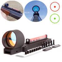 New Lightweight Red and Green Fiber 1x28 Red Dot Sight Hunting Scope Fit Shotguns Rib Rail Hunting Shooting