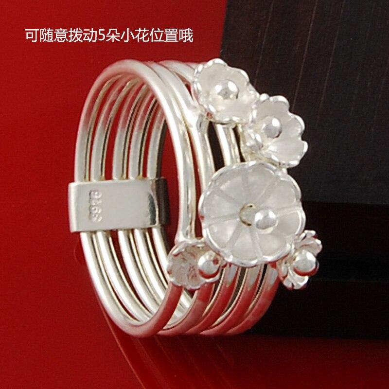 Bague originale Rose multi-couche bague 925 argent Chao homme cinq anneaux dorés femme bijoux en argent