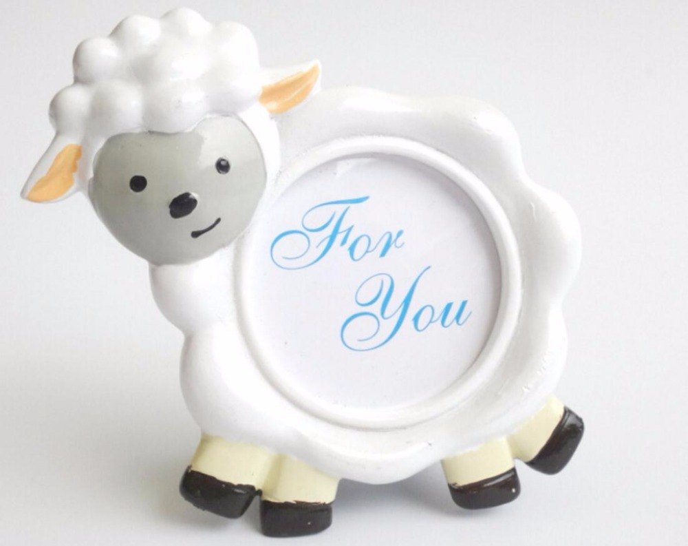10pcs Lovely Sheep Mini Photo Frame For Wedding Baby Shower Party ...