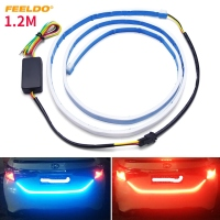 FEELDO 5Set 3 Color 1 2m Car Rear Tail Box Light Streamer Brake Turn Signal LED