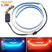 FEELDO 5Set 3 Color 1 2m Car Rear Tail Box Light Streamer Brake Turn Signal LED