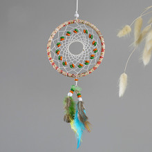 Mini Dreamcatcher Pendant Indian Dream Catchers Car & Bag Decor Wind Chimes Home Wall Hanging Decoration Baby Room
