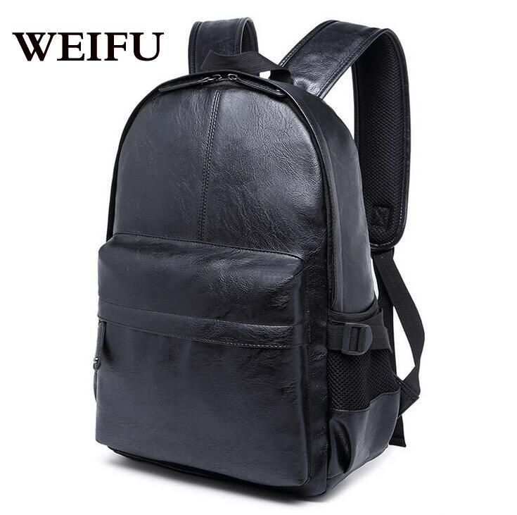 ФОТО The new PU men backpack shoulders bag computer bag bag male students