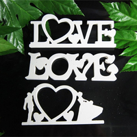 Conjoined words Photo frame LOVE for Home Decor Wedding Decorations Wood Wooden White Letters Alphabet Wedding Birthday of gifts