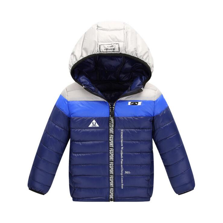 90% Down Winter Jacket Boy Girl Hooded Regular Length Light Girls Boys Coat For 4-12T KW-1618 christmas long hooded jacket girl 90