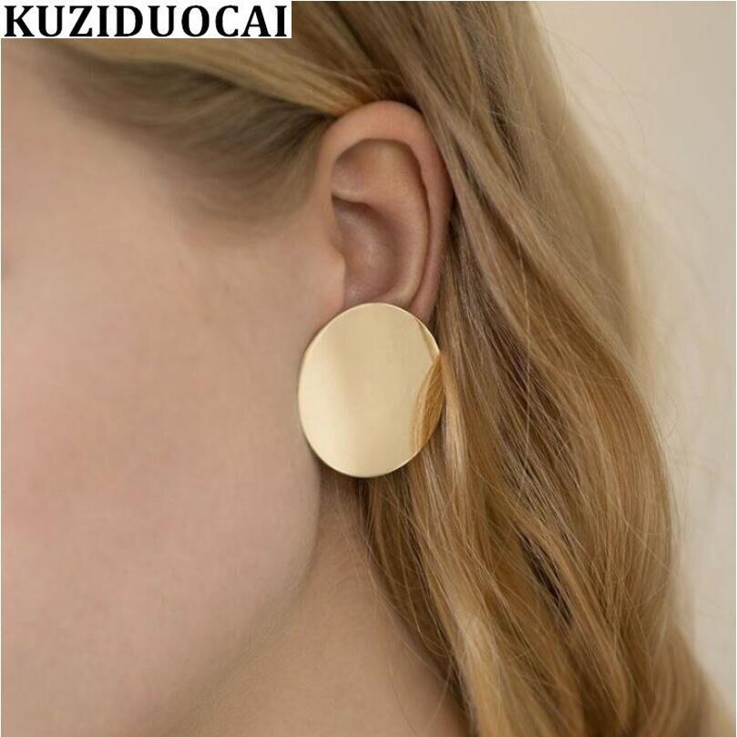 Jewelry & Accessories 2019 Fashion Kuziduocai New Fashion Jewelry Boho Metal Round Uneven 3 Colors Stitching Statement Stud Earrings For Women Brincos Gifts E-371 Stud Earrings