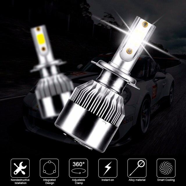 US $12 47 10% OFF 2Pc Error Free H7 Canbus LED Car Headlight Bulbs Car  Headlights For Mercedes Benz W203 W204 W205 S204 C204 Car Styling-in Car