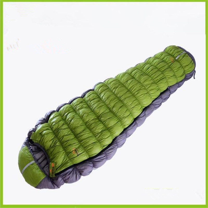 ФОТО Popular ultralight mummy type 90% white Goose down camping winter sleeping bag 3 colors 123