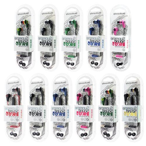 bilder für 100 Stücke AAAAA qualität Schädel Kopf 2 Generationen Tinte Headset In-ear-kopfhörer mit direktübertragung mic für iphone 7 5 6 s 6 plus candy
