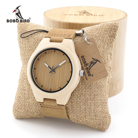 BOBO BIRD Minimalist Design Maple Wooden Watch Ladies Mens Luxury Brand Timepiece With Real Leather Strap