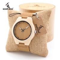 BOBO BIRD Women Watch Men Minimalist Design Maple Wooden Watch Ladies Mens Luxury Brand Timepiece Leather Strap in Gift Box