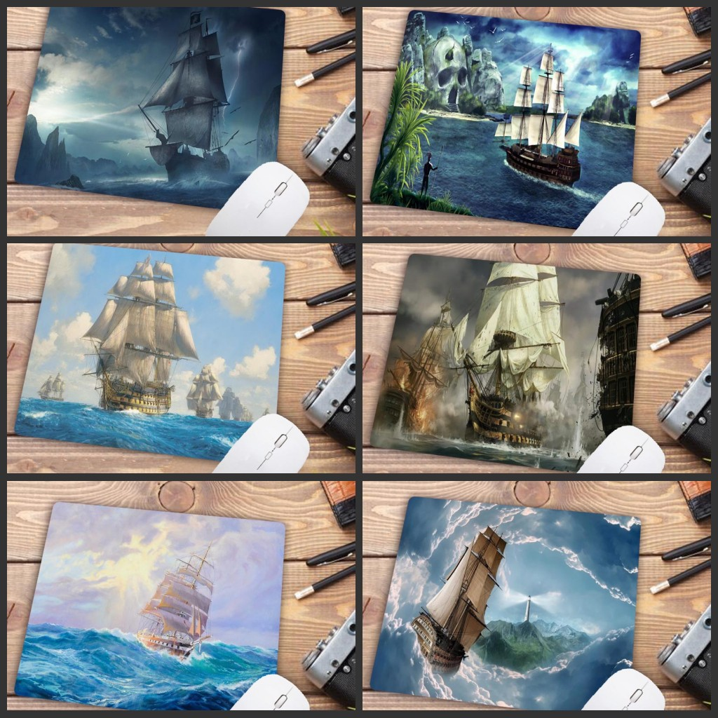 Mairuige Big Promotion Tall Ship Anti-Slip Laptop Computer Mice Gaming Mouse Pad Mat Mousepad For Optical Laser Mouse 22cm*18cm
