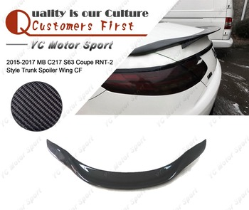 Car Accessories Carbon Fiber RNT-2 Style Trunk GT Wing Fit For 2015-2017 MB C217 S63 Coupe Rear Spoiler Wing
