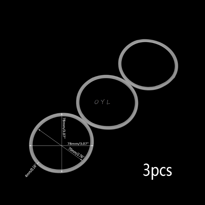 3Pcs/set 7.8cm Rubber O Shaped Replacement Gaskets Seal Ring Parts For Blender Juicer Part  Home Kitchen Accessory