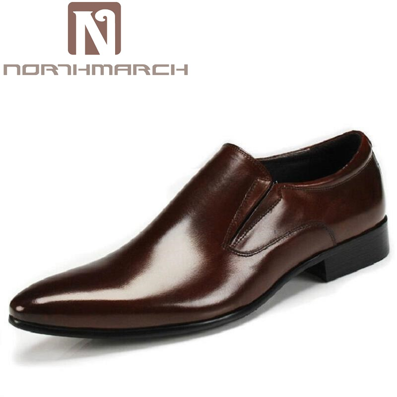 NORTHMARCH Genuine Leather Lace Up Men Loafer Casual Business Shoes Brand Wedding Dress Shoes Men Oxford Shoes Tenis Masculinos цена 2017