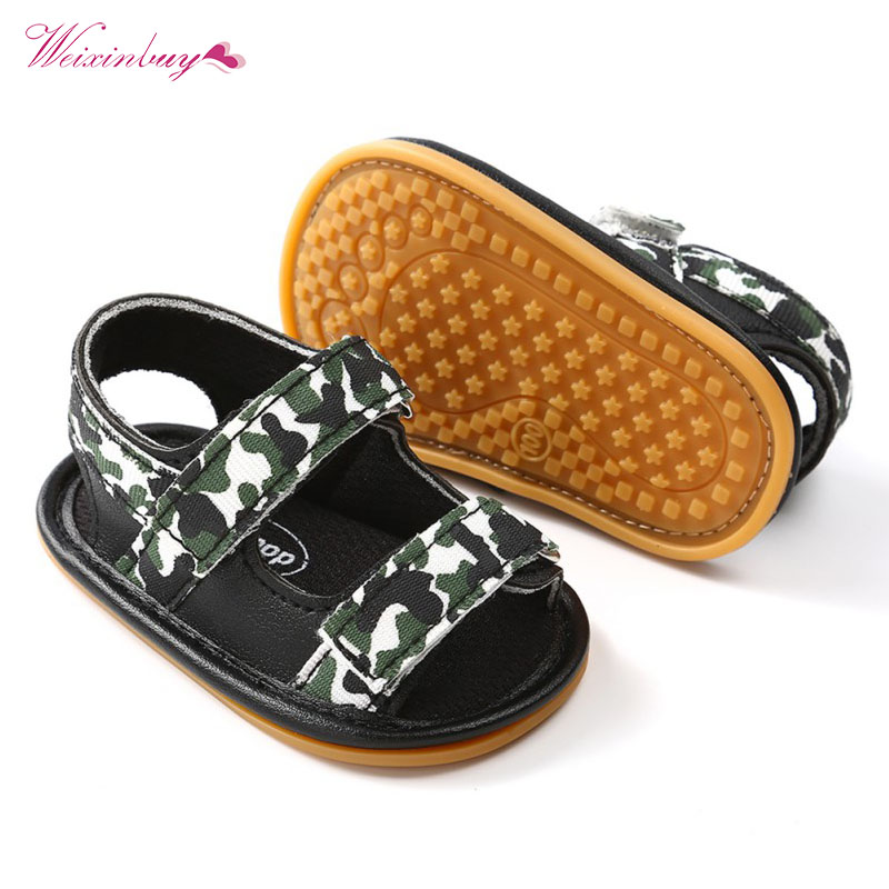 2018 Summer Baby Casual Shoes Boys Girls Camouflage Breathable Sandals Baby Boys Canvas PU Sneakers