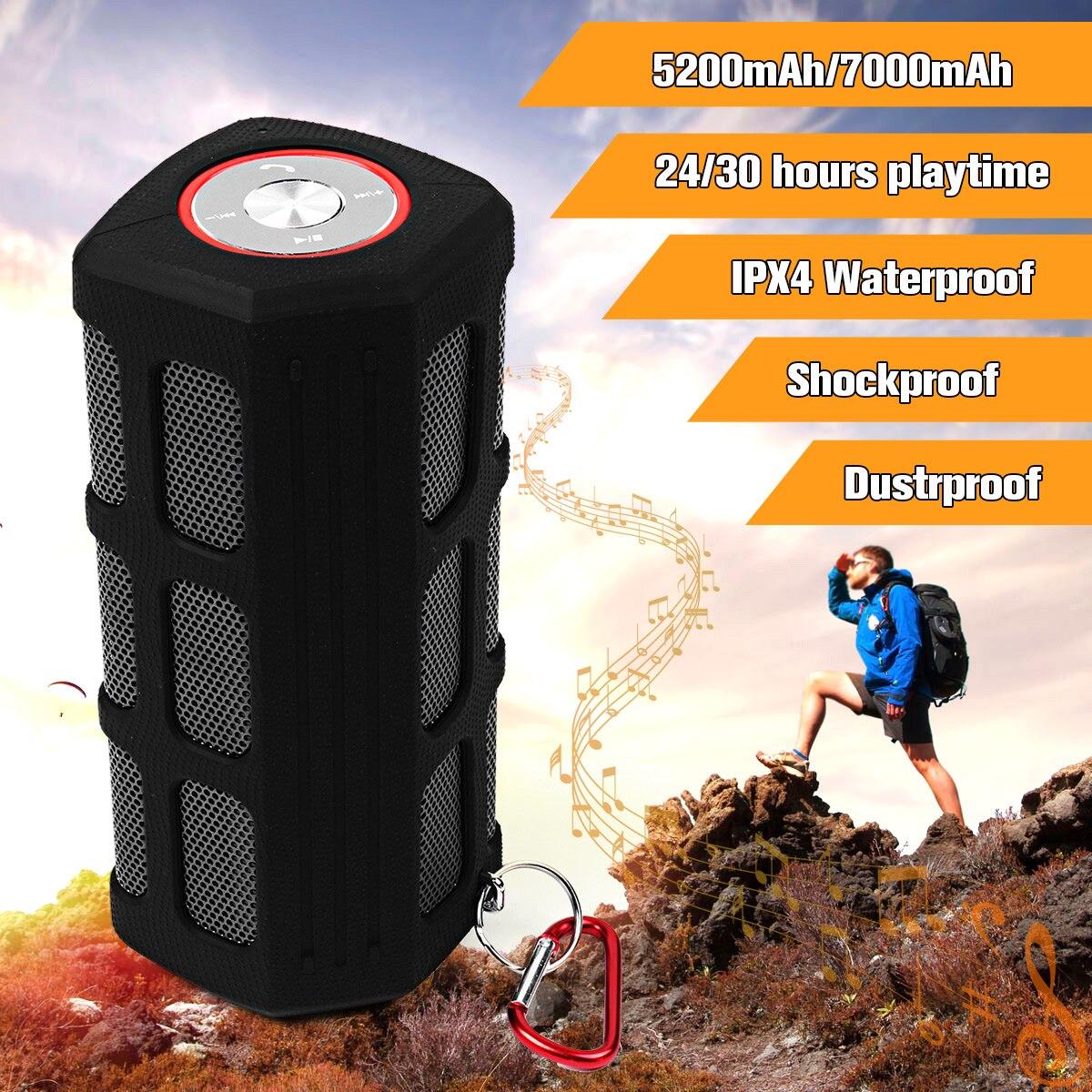 Waterproof Shockproof Dustproof Bluetooth Speakers 5200mAh/7000mAh Power Bank Wireless Outdoor Sports Portable Subwoofer стоимость