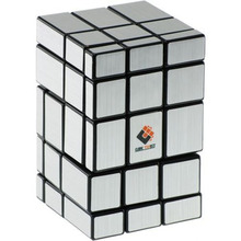 CT Cube Twist 3x3x5 Mirror Plastic Magic Cube  White Body and Blue Sticker Hot Brain Teaser Educational Puzzle Toy for Children