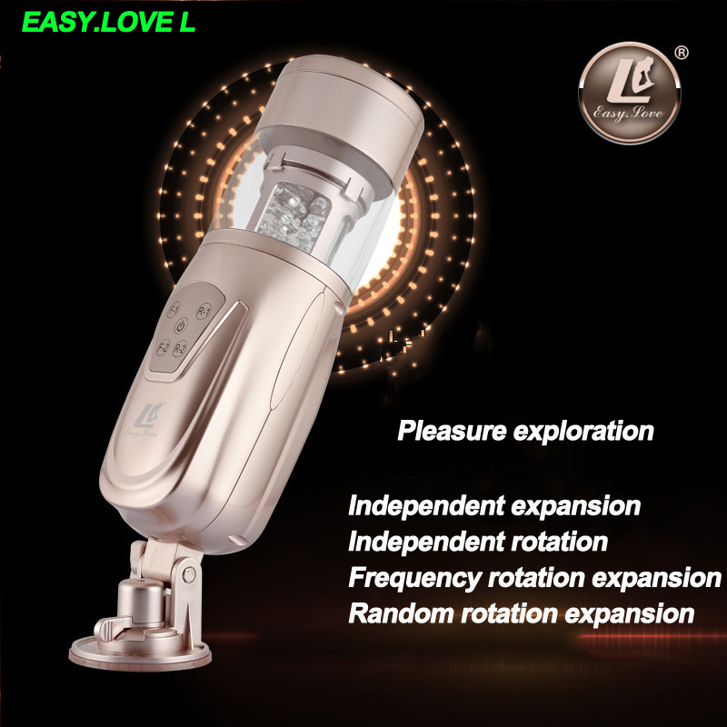 Easy.Love L Telescopic Sex machine Automatic Vagina real pussy,Rotating & Retractable Electric Male Masturbator Sex Toys for Men male masturbator automatic piston sex machine usb rechargeable rotating and retractable electric male masturbation cup sex toys