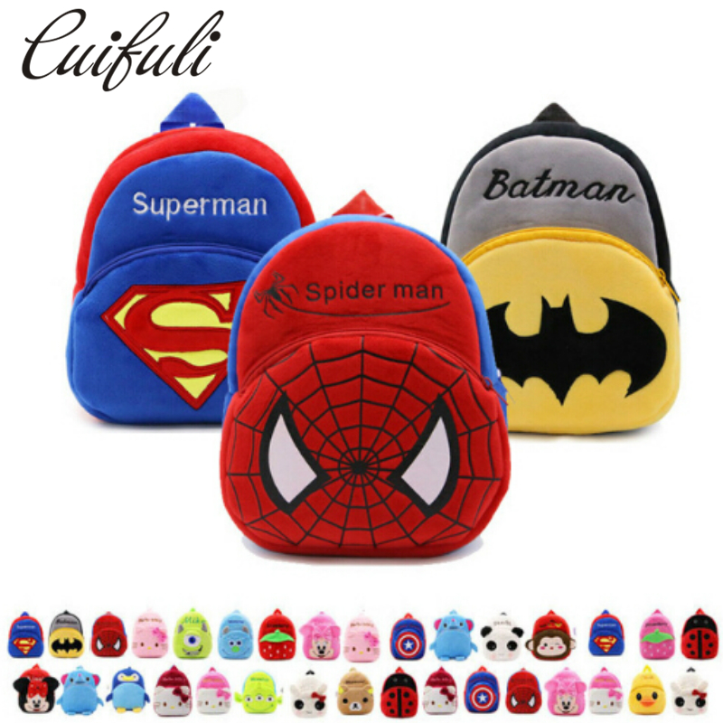 Cartoon Kids Plush Backpacks Baby Toy Schoolbag Student Kindergarten Backpack Cute Children School Bags For Girls Boys mochila lanso 1 pcs cute plush cartoon backpack kindergarten boys girls cute elephant infant school bags doll toys backpacks for kids