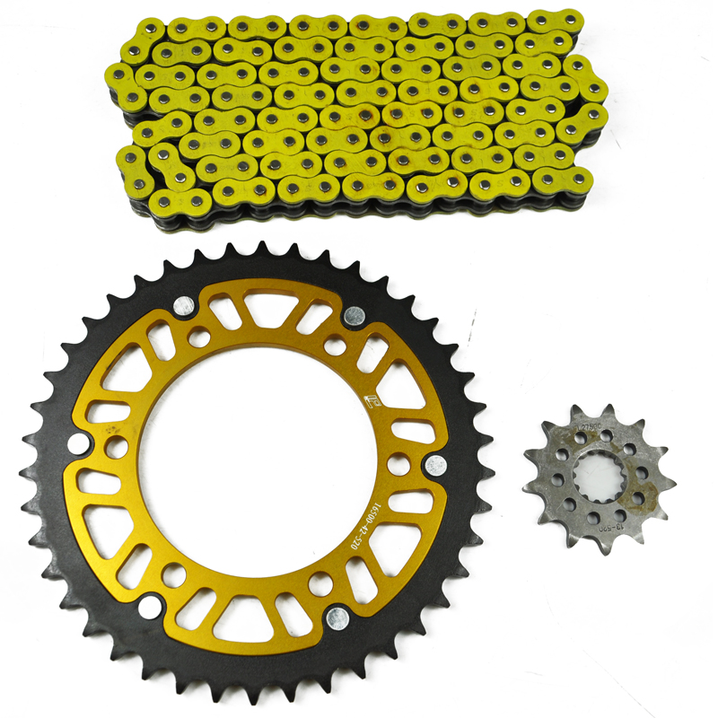 Motorcycle Complete Set Front Rear Sprocket 520 Chain Kit For YAMAHA YZFR3 YZF R 3 R3