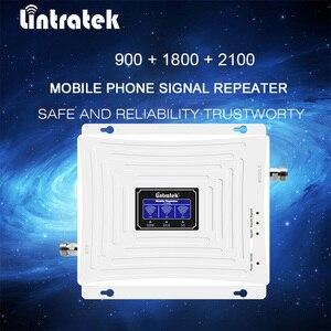 lintratek 2 г 3 г 4 г Усилитель ретранслятора сигналов Tri Band с ЖК-дисплеем 900/1800/2100 мГц ракета-носитель Сотовый ретранслятор усилитель сотовой связи...