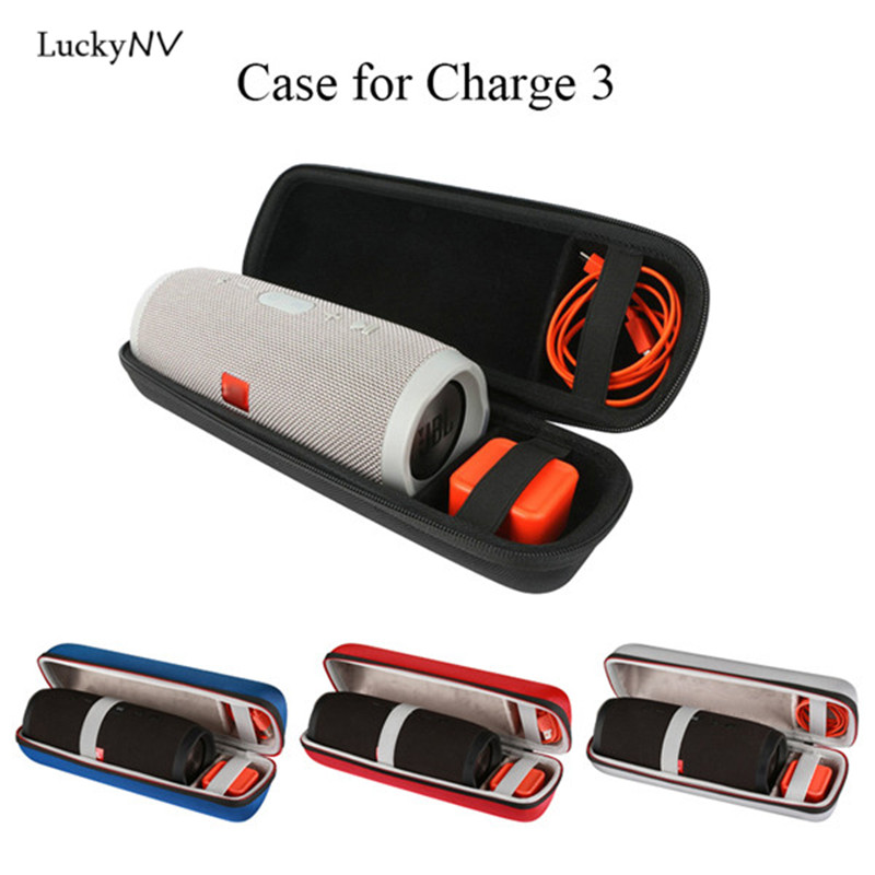 Travel Carry Protective Case Cover Hard Storage Bag for JBL Charge 3 Bluetooth Wireless Speaker Room for Plug&Cables(No Speaker)