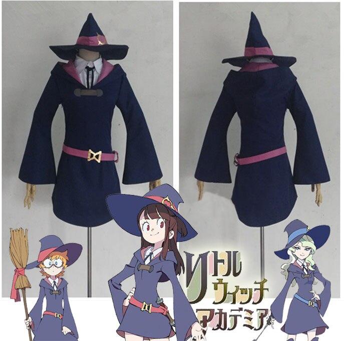 [Customize] Anime Little Witch Academia figure Lotte Yanson Akko Kagari Diana Cavendish cosplay costume Full set New 2017
