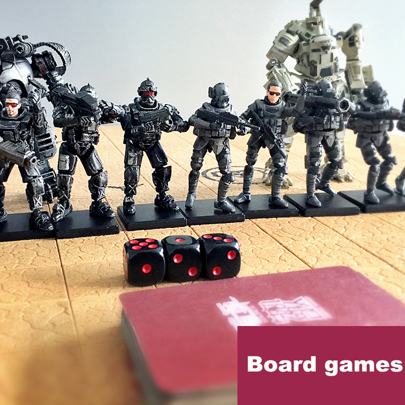 (BRPG)  The 2rd generation War chess set the primary version Robot soldiers action figure Military games Parent-child game