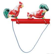 Фирменная Новинка Винтаж долбящий цыплят оловянная Игрушка коллекционная подарок для детей
