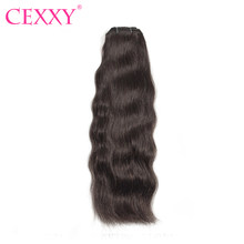 Cexxy Raw Indian Virgin Hair Weave Bundles Natural Color Human Hair Extension 1PC/3PC Free Shipping(China)