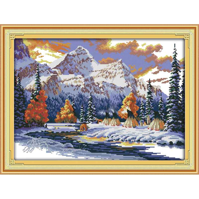 Everlasting love The snow of winter Chinese cross stitch kits Ecological cotton stamped 11CT Christmas New store sales promotion
